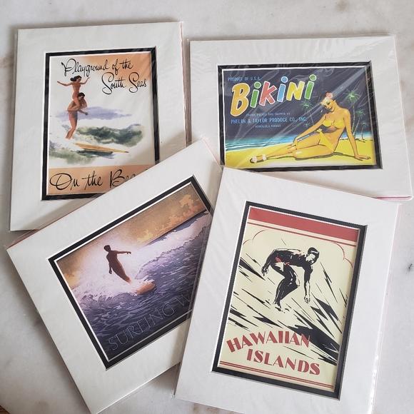 Hawaiian Surf Bikini 8x10 prints - set of 4